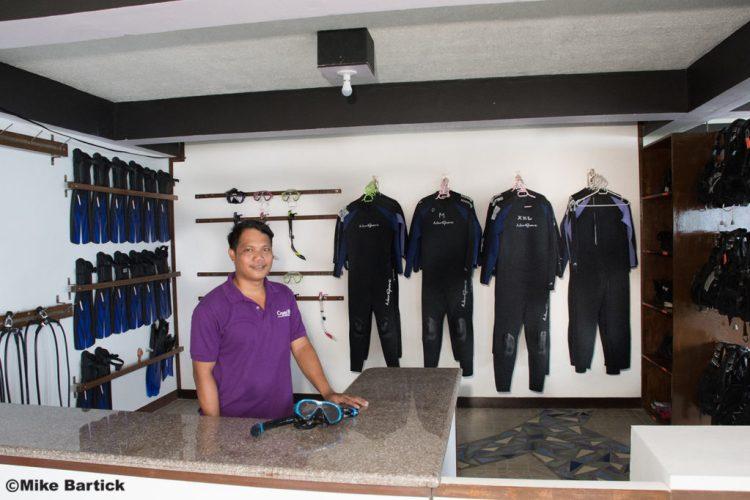 Crystal Blue Resort's dive center