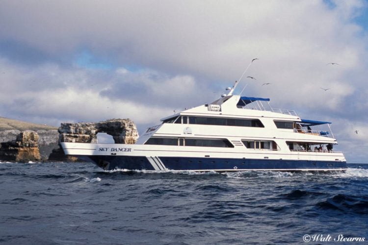 Before it was known as the Galapagos Sky, the vessel went by the name Sky Dancer back back 2001.