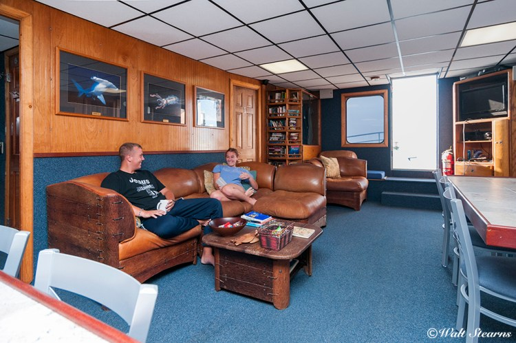 Main salon on the Kona Aggressor II