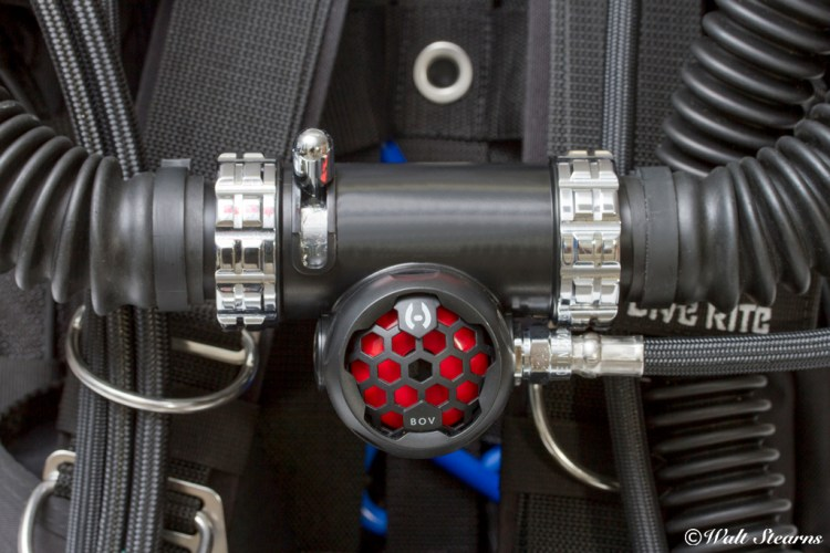Hollis brand BOV fitted to a KISS Rebreathers Spirit Rebreather.