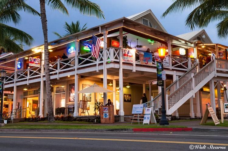Downtown waterfront district of Kailua-Kona.