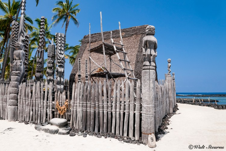 "Pu'uhonua o Honaunau, also known as the ""Royal Place of Refuge."""