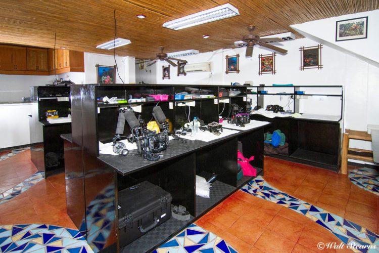 Crystal Blue's camera room.