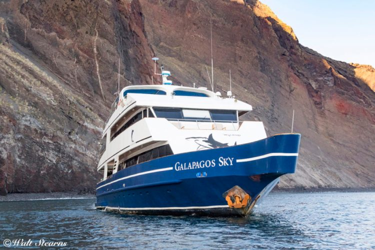 Galapagos Sky liveaboard dive yacht.