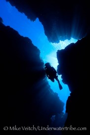Diver in Yap Caverns