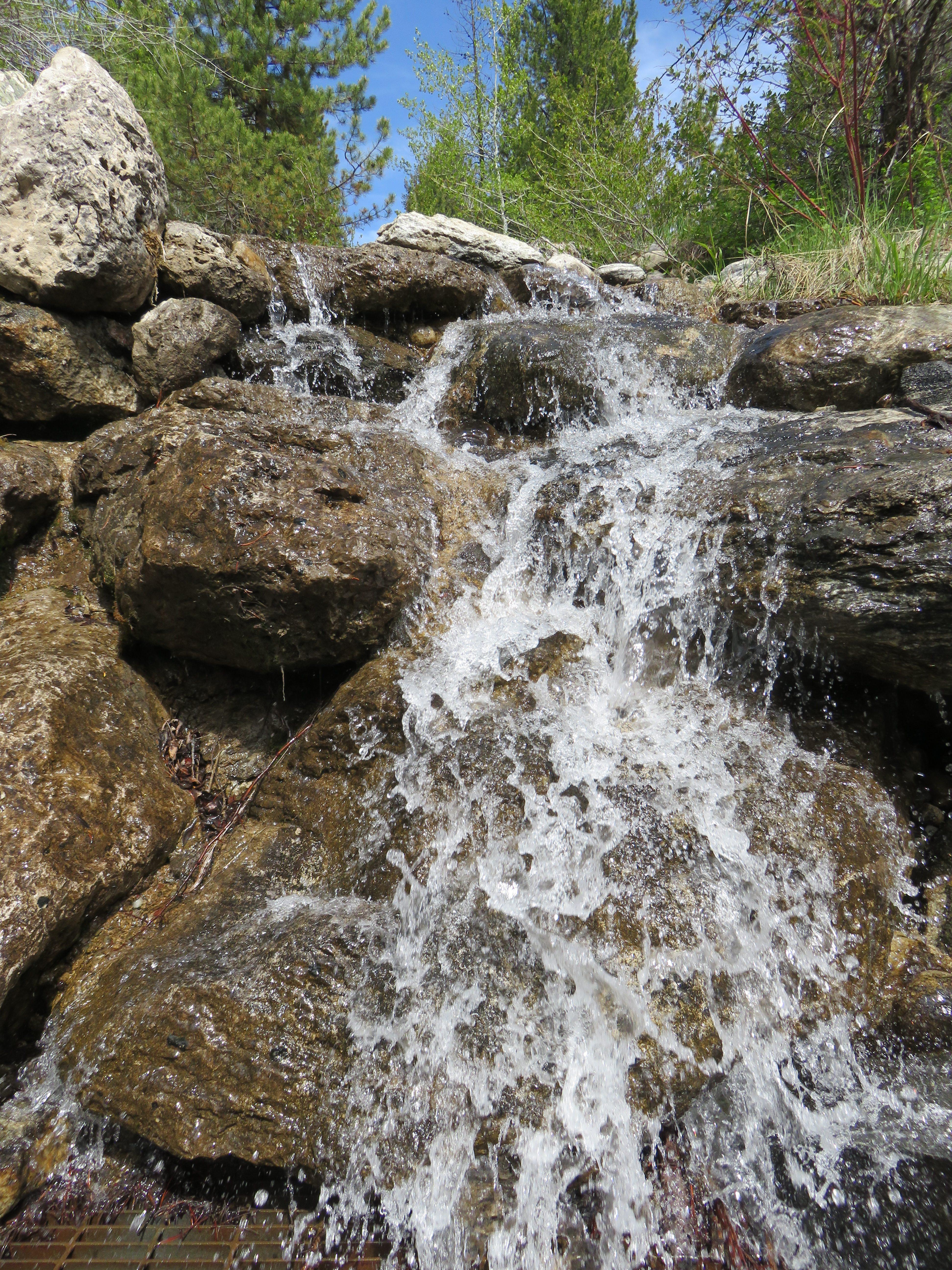 waterfall at Death Canyon trailhead
