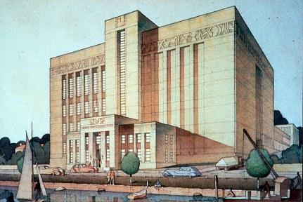 Margaret Pitt Morison con Oldham, Boas y Ednie-Brown, Emu Brewery, Perth, Ilustración 1937.