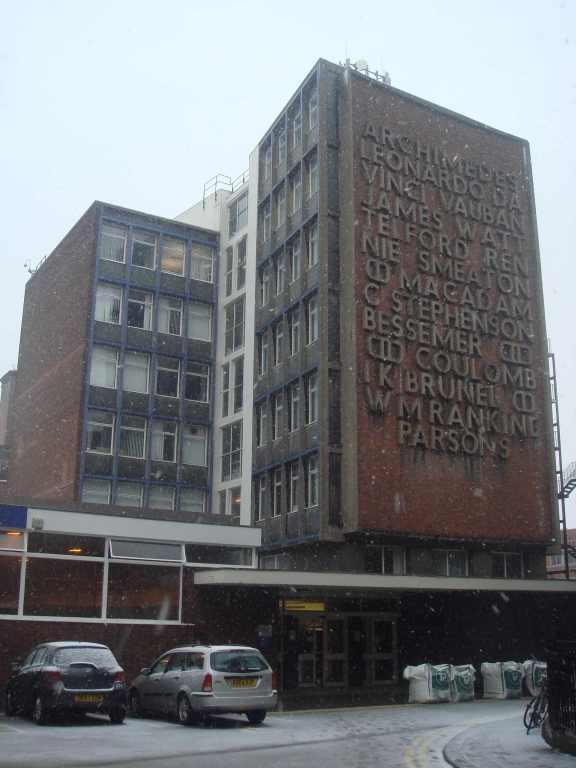 Fry, Drew and Partners, Civil Engineering Building, Liverpool University (1955-60)