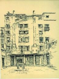Egle Trincanato, Dibujo en tinta sobre papel de Petriana Corte en San Polo
