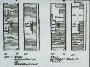 Birgit Cold y otros (1980): Vivienda experimental Skiboli. Plantas de vivienda en estado inicial (izq.) y en posible estado adaptado por usuarios.