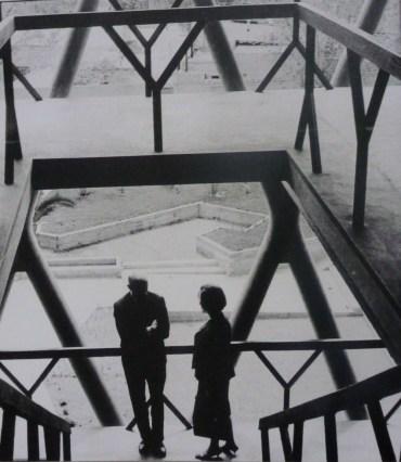Noemí Goytia y Enrico Tedeschi en la Facultad de Arquitectura de Mendoza