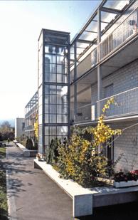 Gret Loewensberg, residencial Melchrüti en Wallisellen, 1994