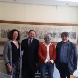 Ana Falú con Marcos Mazari, Lourdes García Vázquez y Gustavo Romero