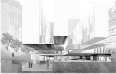Grafton Architects: Yvonne Farrell, Shelley McNamara; Sección, Universita Luigi Bocconi, Escuela de Economía, Milán, Italia, 2008