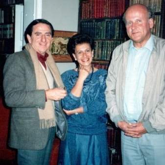 Silvia Arango con Rogelio Salmona y Cristian Fernández Cox