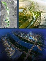 Concurso 1er. Premio, 2009 - Reurbanización sobre el río Fen, Ciudad de Taiyuan, China