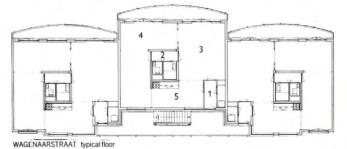 Magreet Duinker, Dapperbuurt planta tipo, The Architect s Journal, 1990
