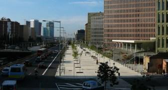 Imma Jansana. Urbanización complementaria de la nueva Gran Vía delante de la ciudad judicial