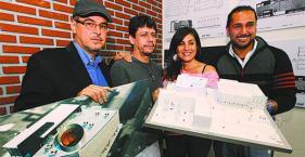 Cindy Rivero, Javier Salinas, Alberto Menacho y Guido Bravo, Casa grande de las Culturas Apiaguaqui Tumpa
