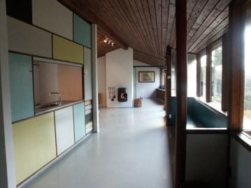 Karen y Ebbe Clemmensen, casa propia (Gentofte, 1953): Vista interior, estado actual.