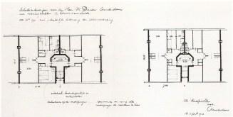 Margaret Kropholler-Staal, Edificio Holendrechstraat. Propuesta de mejora en la distribución de apartamentos (drch.)