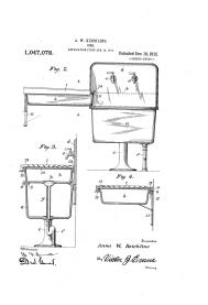 Anna Wagner Keichline, patente fregadero, 1912