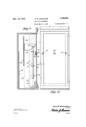 Anna Wagner Keichline, patente cama plegable, 1929
