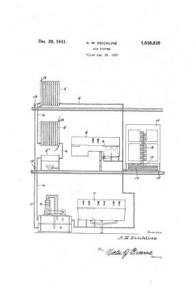 Anna Wagner Keichline, patente sistema de aire, 1931