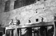 Imagen del VII CIAM en Bérgamo en 1949. De izquierda a derecha, Le Corbusier, Helena Syrkusowa, Josep Lluís Sert y Sigfried Giedion