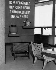 """Clara Porset, Exposición """"El arte de la vida diaria"""" en Ciudad Universitaria 1952. Frase de su autoría para contextualizar"""