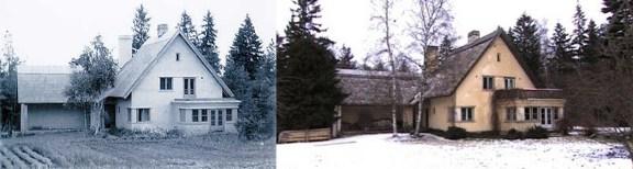 Erika Nõva (1937): Casa propia en Nõmme. Estado original y estado en 1999.