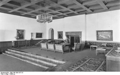 Gerdy Troost. Salón principal del Berghof, Alpes Bávaros