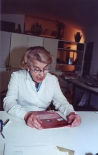Odilia Suárez en su estudio