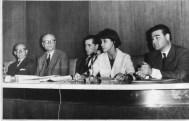 Odilia Suárez con intendentes, 1967