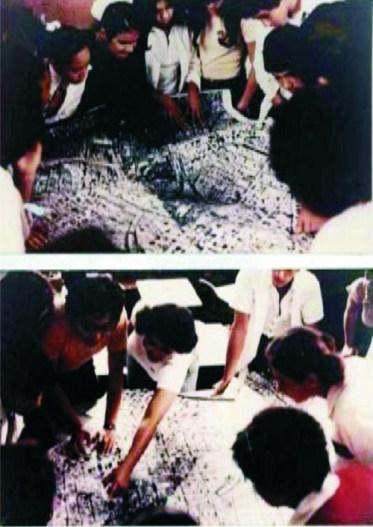 Mayumi Watanabe, Estudio de espacio escolar (CONESP, c. 1976) actividades en escuelas