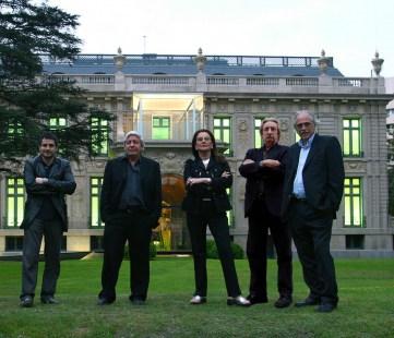 Sara Gramática con sus socios. Lucio Morini, Jorge Morini, José Pisani y Eduardo Urtubey.