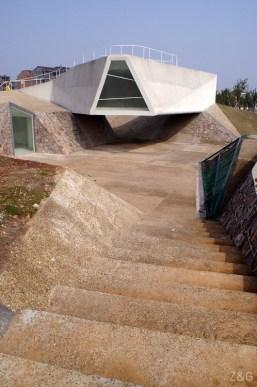 Tatiana Bilbao, Sala de exhibiciones, Parque Arquitectónico de Jinhua, China