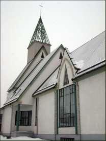 Maarja Nummert (1988): Iglesia Baptista de Salem en Tartu. Fachada lateral