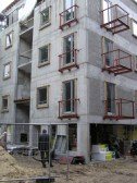 Mai Šein y Andrus Padu: Edificio de viviendas en Calle Koidula n.14, Tallinn. Vista durante construcción.
