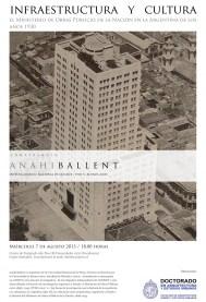 Anahi Ballent, Infraestructura y Cultura, conferencia 2013