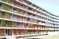 Annette Gigon y Mike Guyer, Complejo de viviendas Brunnenhof, Zurich. (2004 -2007)
