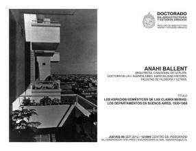 Anahí Ballent, Los espacios domésticos en las clases medias, conferencia en el Doctorado en Arquitectura y Estudios Urbanos, Santiago de Chile
