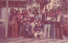 Maria Alice Junqueira Bastos y compañeros en Colégio Rio Branco
