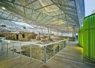 Atxu Amann, Andrés Cánovas, Nicolás Maruri, Temperaturas Extremas, valla y cubierta para restos arqueológicos romanos en el cerro del Molinete, Cartagena, Murcia, 2009-2011