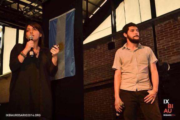 Elizabeth Añaños en la IX BIAU Rosario 2014