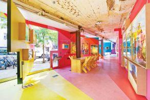 """Instalación """"Painting Urbanism"""" en Storefront, 2012"""
