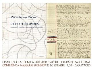 María Teresa Muñoz, Dicho en el Umbral