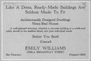Emily Williams, aviso en el periódico
