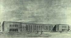 Leman Tomsu, Proyecto para una estación de tren, Eskişehir, 1947