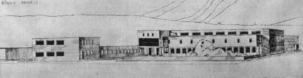 Leman Tomsu, Münevver Belen, Proyecto para la Casa del Pueblo en Kayseri, 1937.